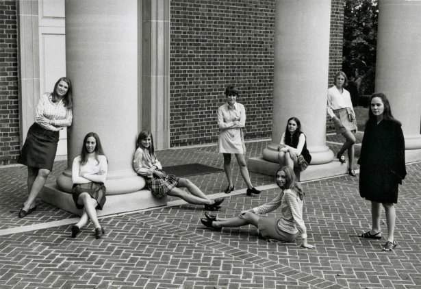 My inspiration was this photo of students from Sweet Briar.