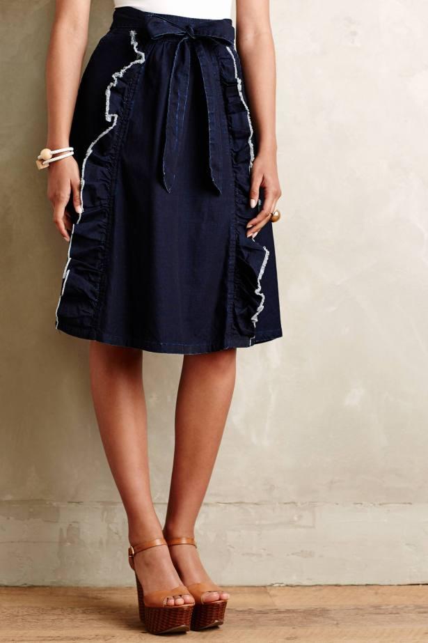 Blue Ribbon Denim Skirt, $128
