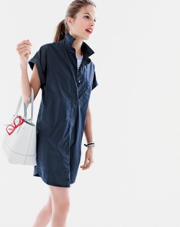 Short-Sleeve Cotton Shirtdress ($98)