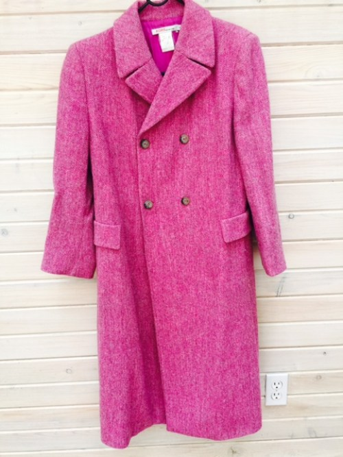 Miss Andrea's pink Michael Kors coat. Purchased in 2000, she still wears it today.