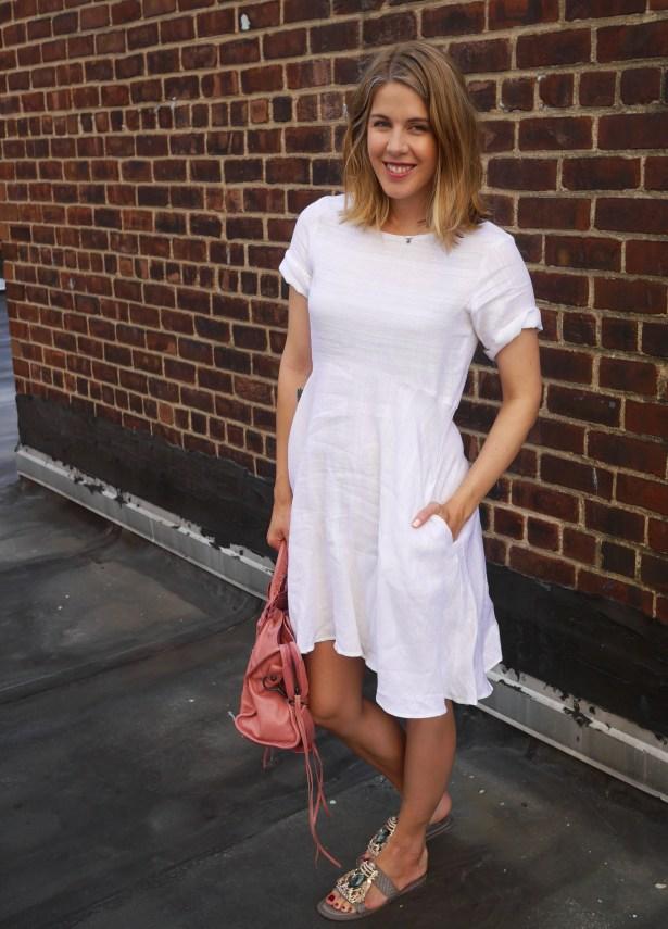 Dress: Meg | Handbag: Balenciaga (Consignment) | Shoes: Ivy Kirzhner (Saks Off Fifth)