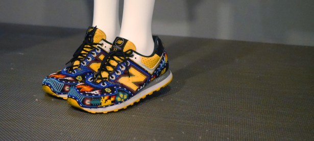 Sao Paolo was represented with these beaded New Balances.