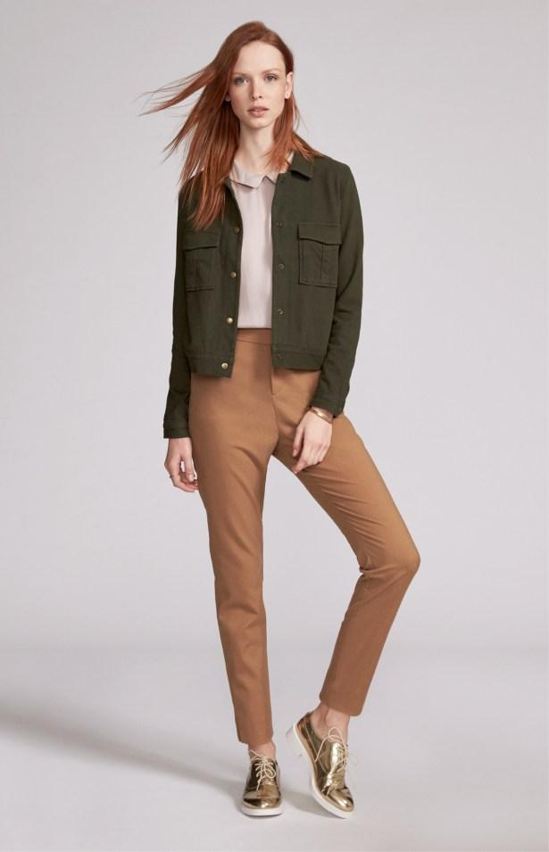 Knit Utility Jacket: $39.94 | Peter Pan Collar: $24.94 | Wool Trouser: $36.94