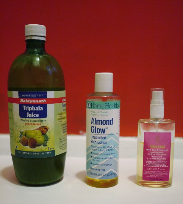 From left to right: Triphala Juice; XX; XX