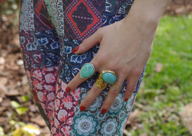 "Teardrop Ring: Lucky Brand (Outlet) | Gold ""Arty"" Ring: YSL (Consignment)"