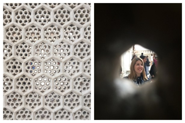 Tip: Try taking a photo though the honeycomb pinholes in the walls. Cool effect.