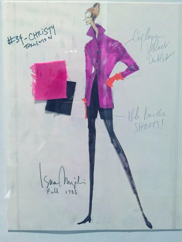 A sketch of Christy Turlington.