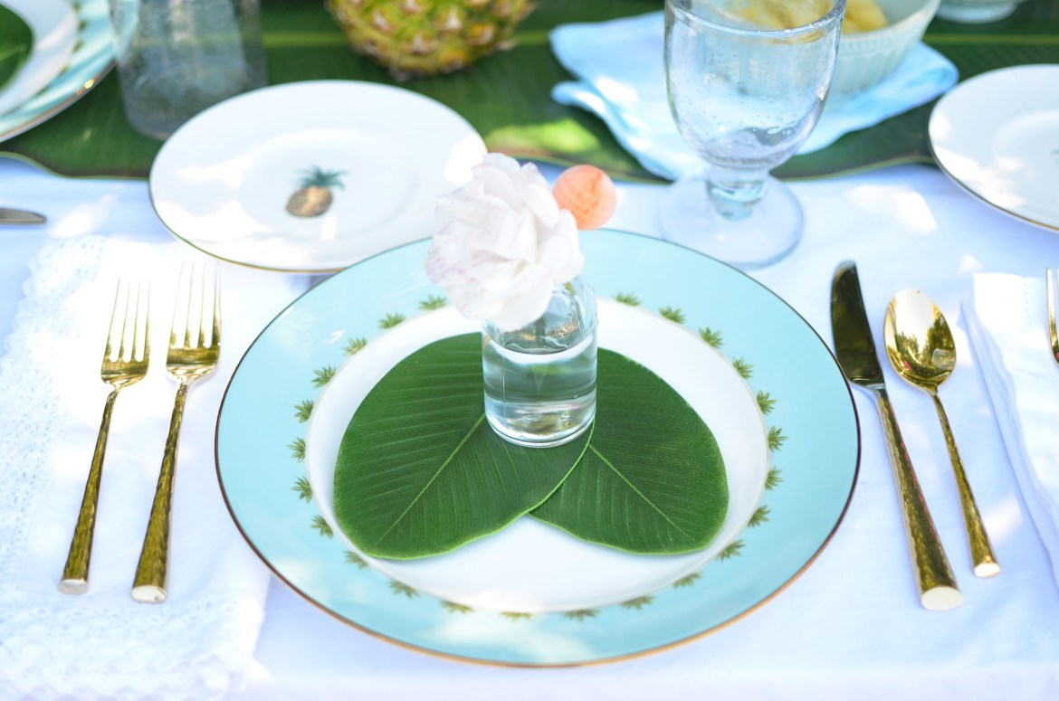 Lenox British Colonial Dinnerware and pineapple tabletop inspiration with Table + Dine