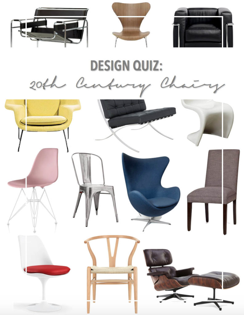 Famous Chair Design Quiz Famous 20th Century Chairs Thestylesafari
