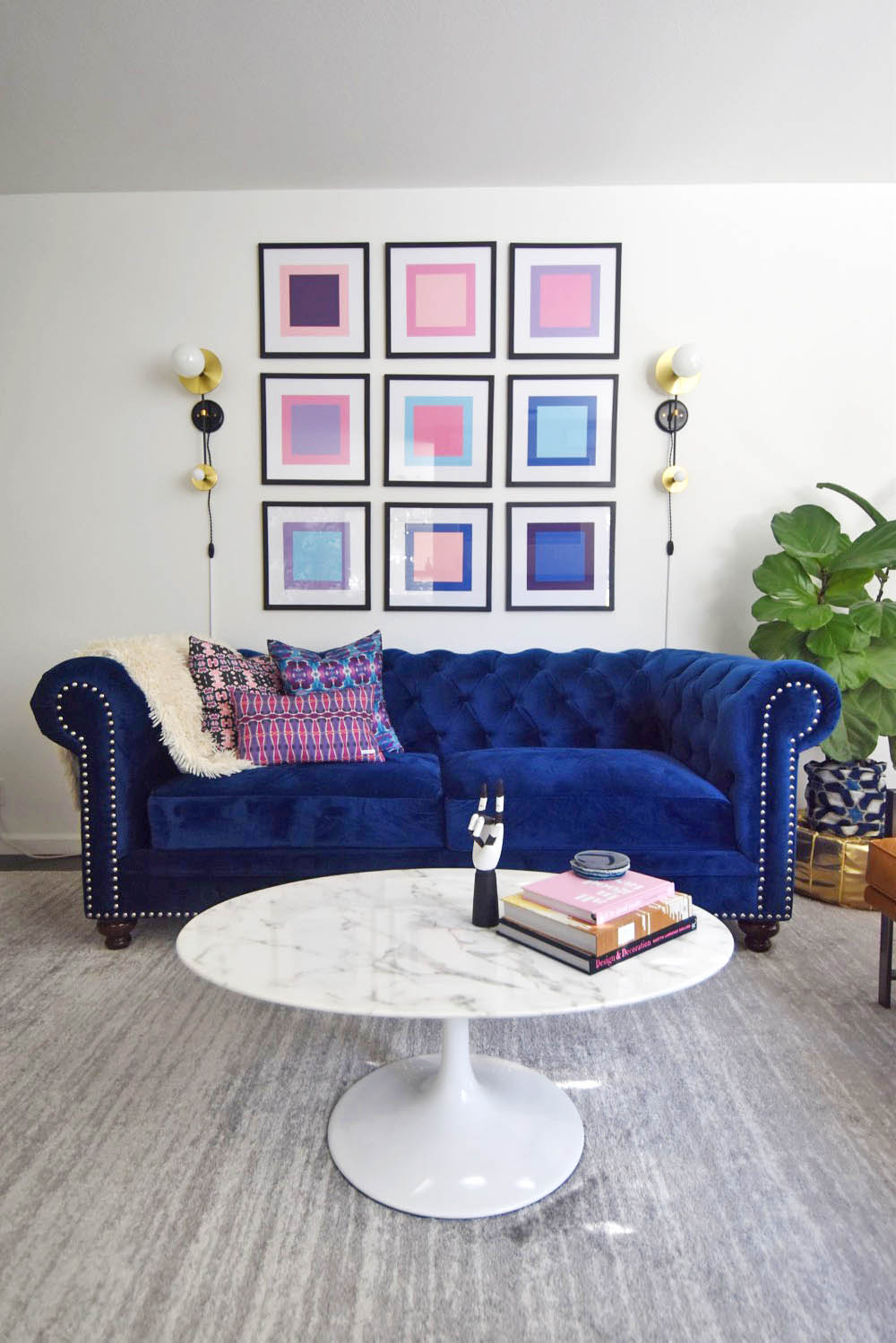 Sofa Cord Stefanie's Home: Midcentury Glam Living Room Reveal