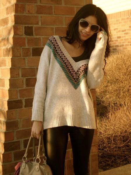 American Eagle Tribal Sweater