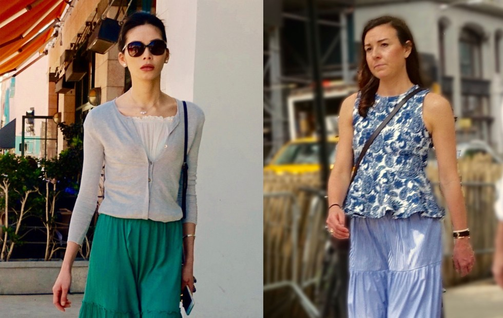 Tiered trousers in L.A. and and New York