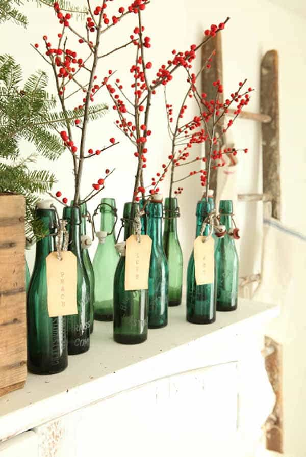 25 rustic diy christmas decorations the summery umbrella for Easy to make christmas decorations