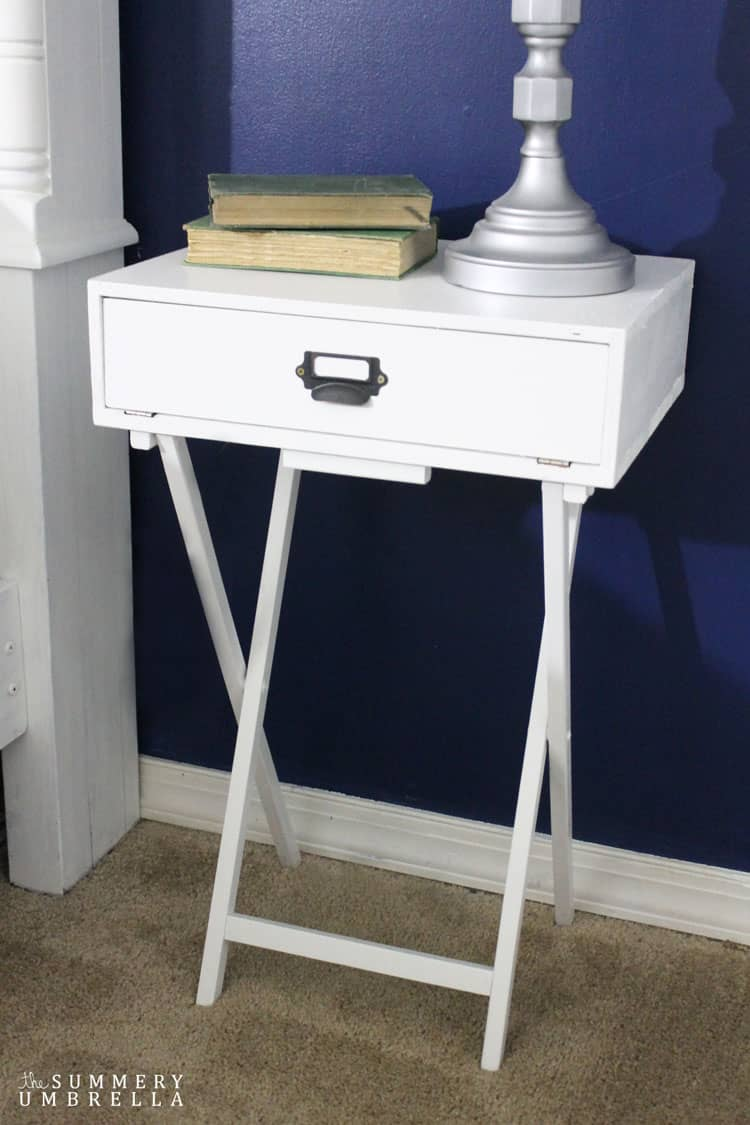 Create this gorgeous Pottery Barn Knockoff DIY Nightstand in a day. That's right! Super affordable and super easy. MUST PIN!