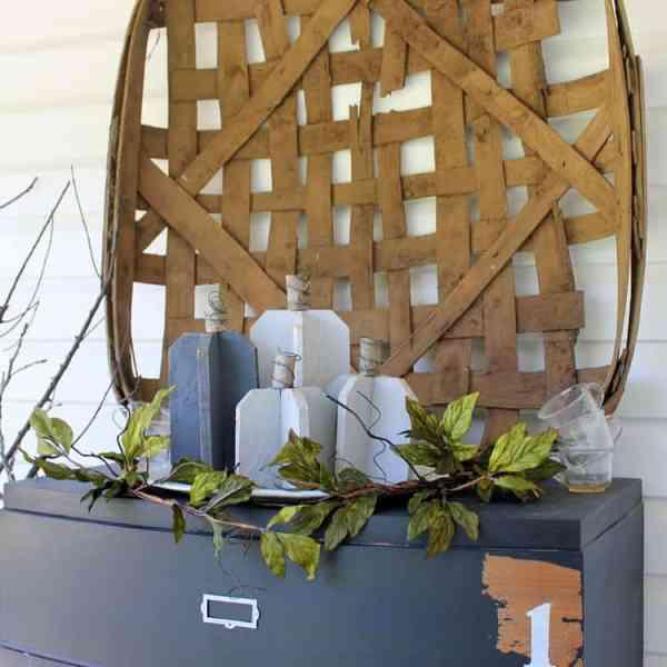 DIY Reclaimed Wood Pumpkins in Gray