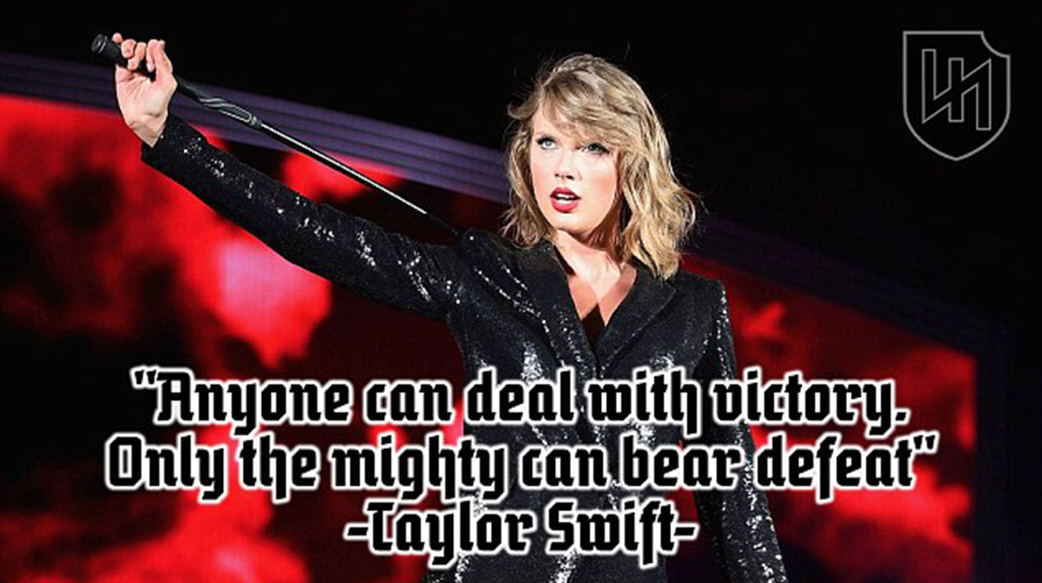 Bad Blood Quotes Taylor Swift Taylor Swift Hailed As A Nazi And Aryan Goddess By White