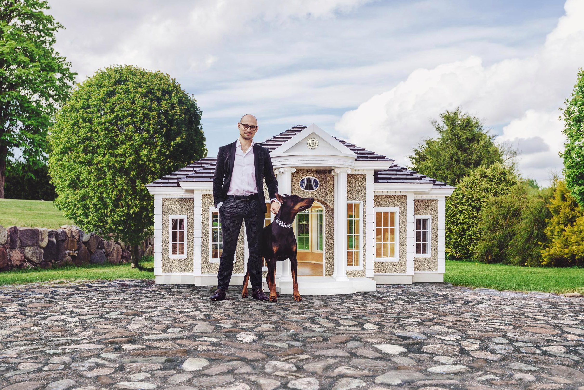 Now you can buy the 'world's most luxurious dog kennels' that cost £170K and have air con and treat dispensers