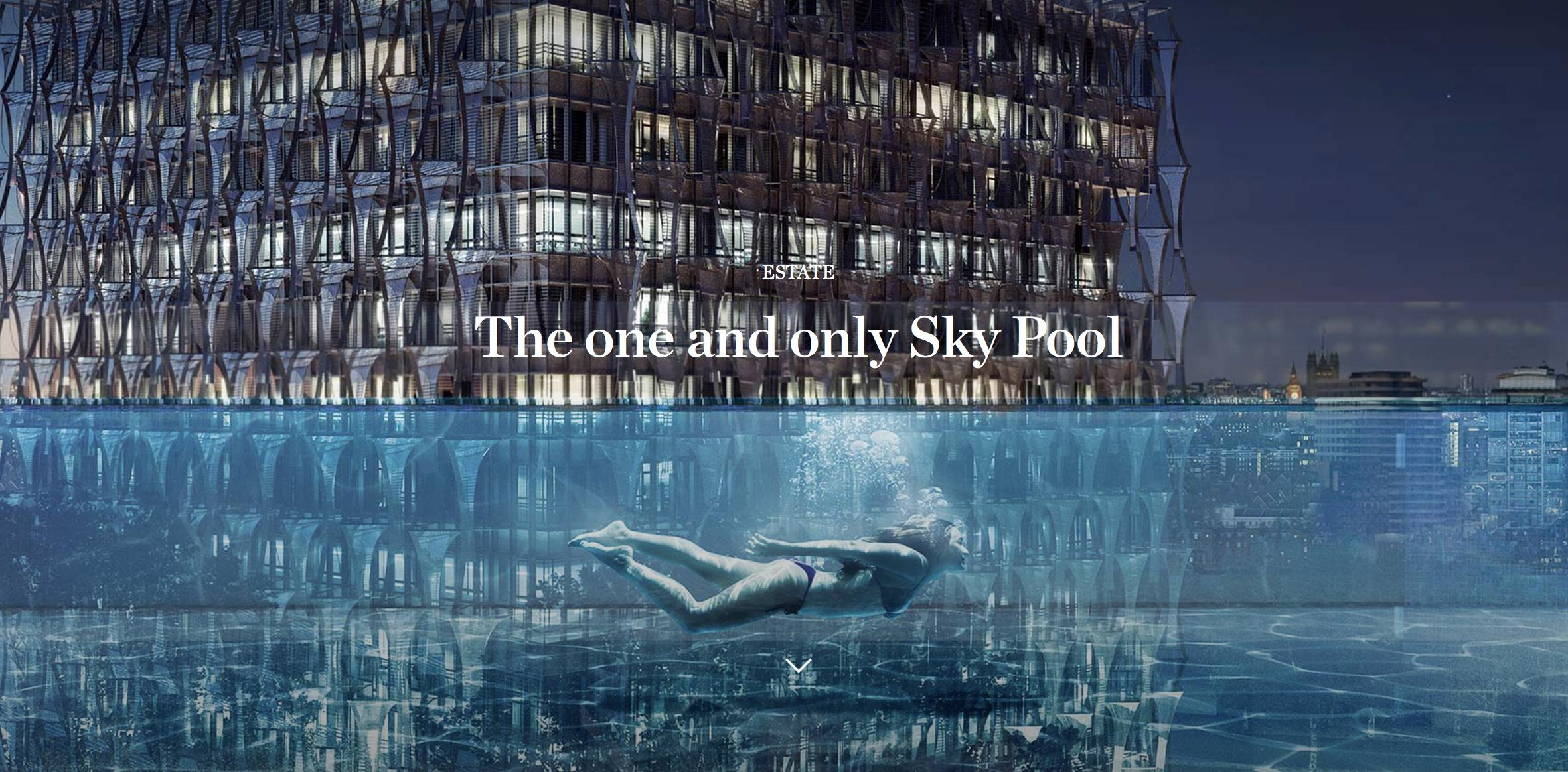 Cash Pool London World S First Sky Pool That Floats 115ft Above London On Offer