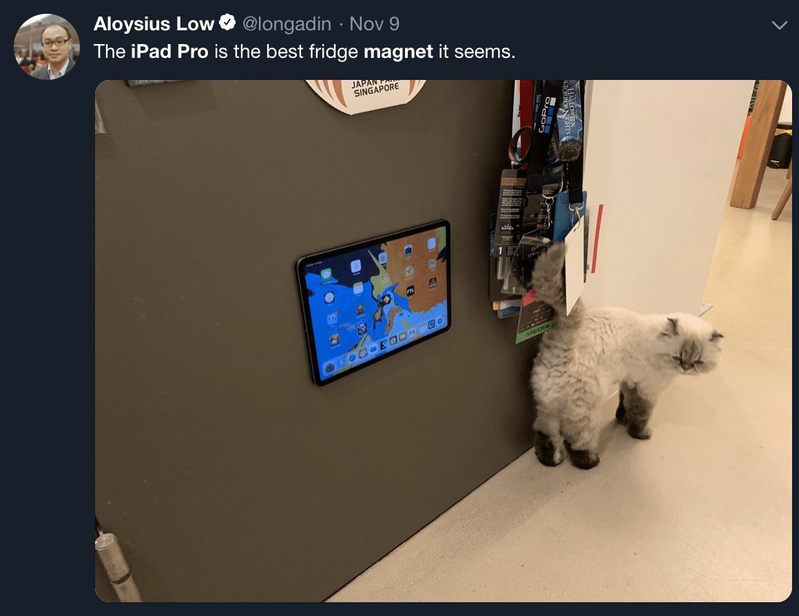 Magnet Kitchen Design App Apple S 1 800 Ipad Pro Used As A Fridge Magnet In Bizarre New