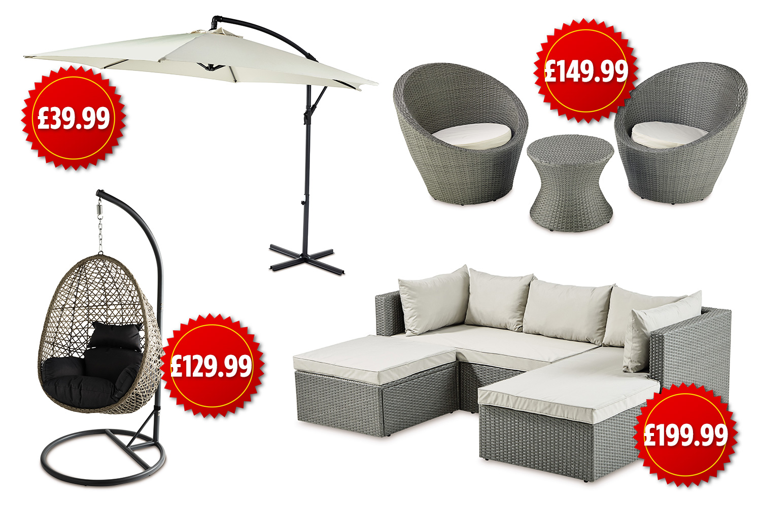 Owen 5 Piece Rattan Sofa Set With Cushions Aldi Selling Beautiful Garden Furniture For A Quarter The Price Of