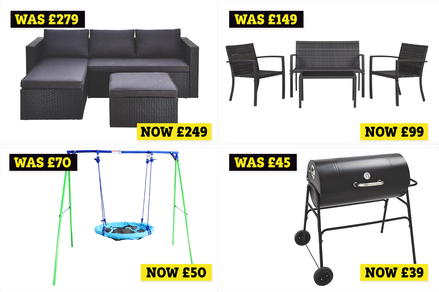 Asda Has A Garden Furniture Sale That Includes Sofa Sets Swings And Bbqs - Morrisons Garden Furniture Clearance