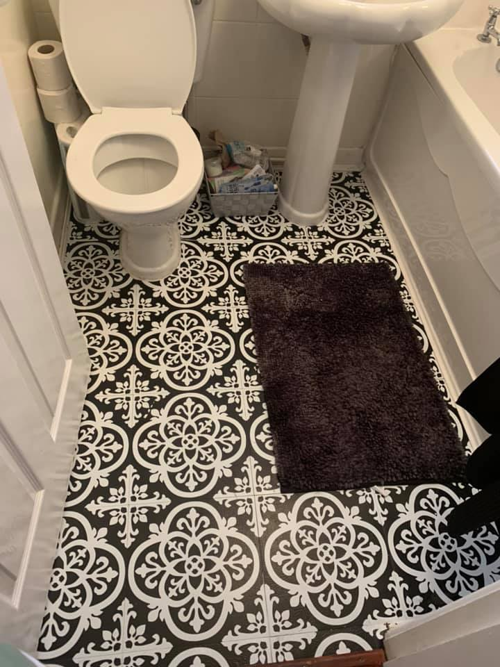 Diy Fanatics Are Raving About These 14 Dunelm Stick On Floor Tiles Which Are Sprucing Up Even The Dullest Bathrooms
