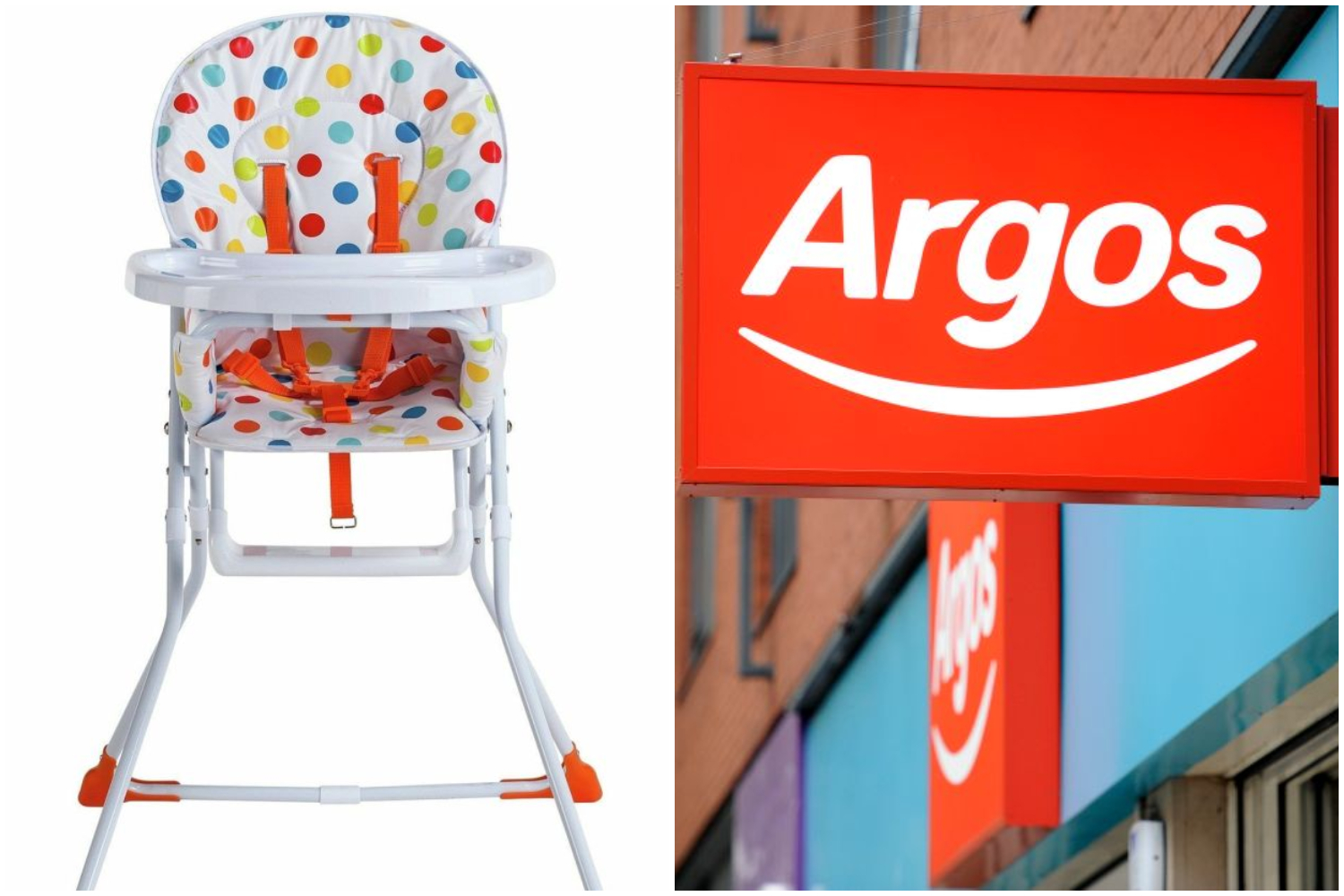 Baby Chairs Argos Argos Ireland Recalls High Chair Over Safety Fears It Could
