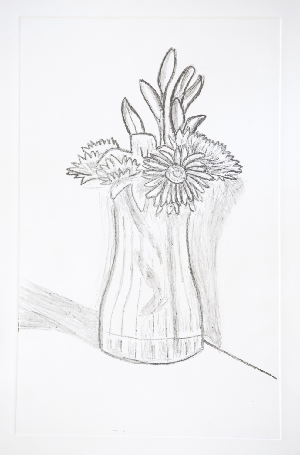 Flower vase how to draw - Flower Vase Pencil Drawing Flower Vase Print Download