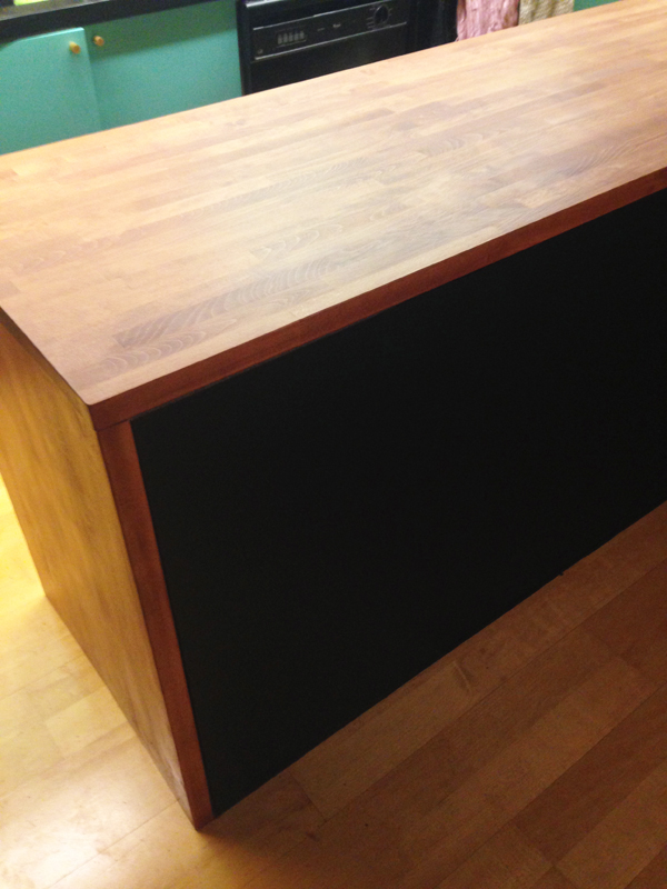Diy Butcher Block Kitchen Island Kitchen Makeover: How To Make A Diy Waterfall Butcher
