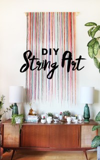 DIY String Wall Art - The Sweet Escape Creative Studio
