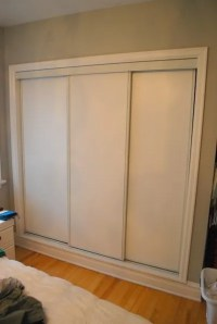 painted sliding closet doors: faux trim effect - THE ...