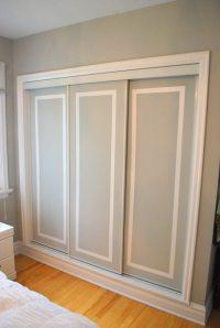 painted sliding closet doors: faux trim effect - THE ...
