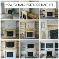 building our fireplace built-in's - the sweetest digs