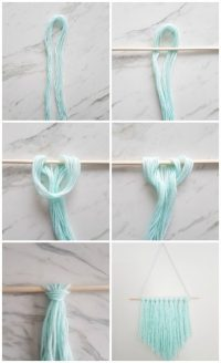 How to Make an Easy DIY Wall Hanging with Yarn - A Quick ...
