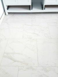 Choosing (faux) Carrara Marble Floor Tile for the Bathroom ...