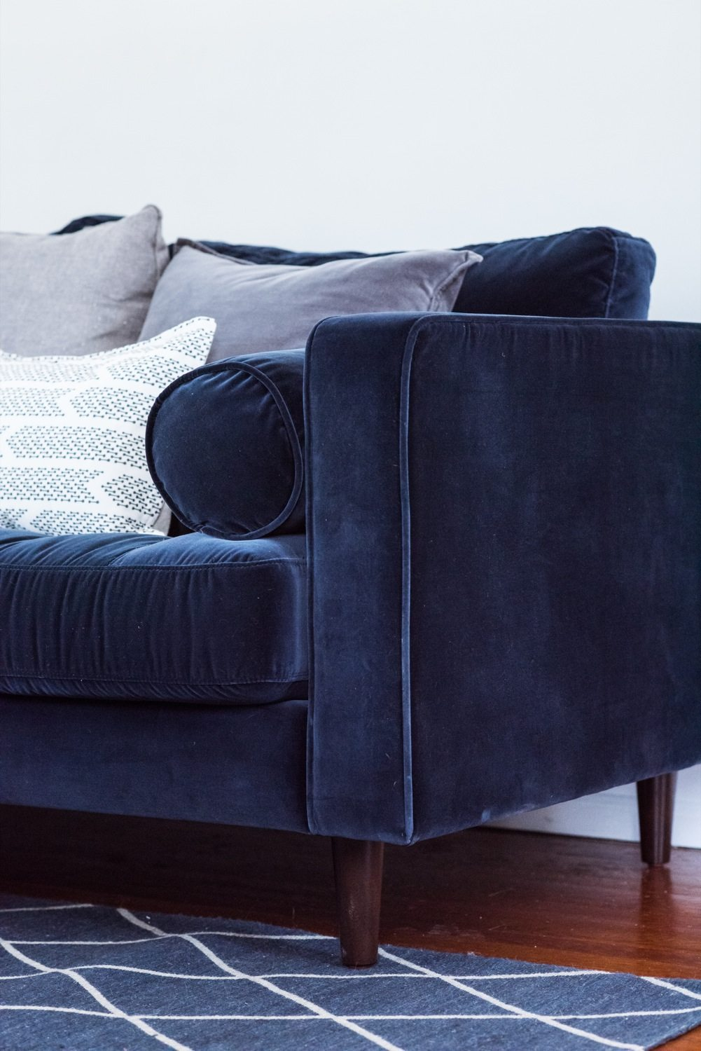 Big Sofa Occasion A Living Room Update Our New Velvet Sofa The Sweetest Occasion