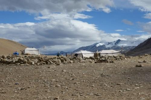 Ladakh nomad tents near Tsomoriri