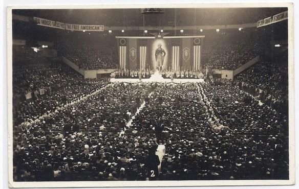 American Nazi organization rally at Madison Square Garden, 1939