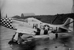 Ralph Hamilton's P-51 Mustang at Duxford,, tail # 44-15650,  1944.