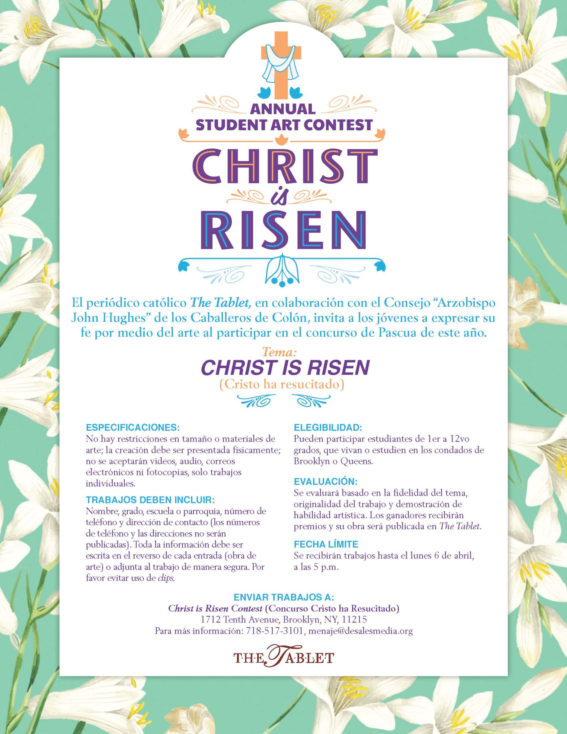 Christ Is Risen Easter Art Contest 2020 The Tablet