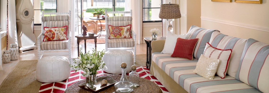 Coastal Casual Design of Delray Beach Home | The Tailored Pillow of South Florida