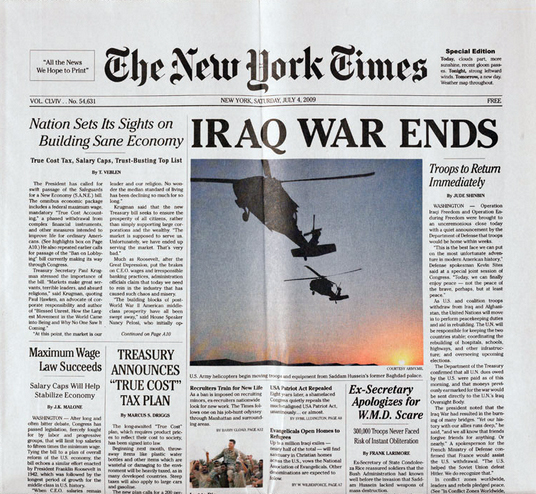 New York Times Special Edition Yes Men