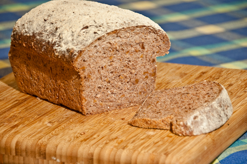 Cracked Wheat Walnut Cider Bread