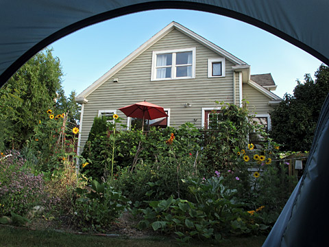 house from tent