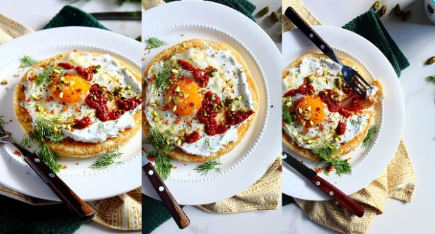 Turkish Fried Egg Flatbread Recipe by Peachy Palate