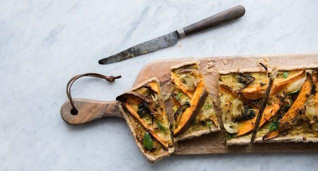 Caramelised Onion, Sweet Potato and Rye Tart Recipe by Jordan Bourke