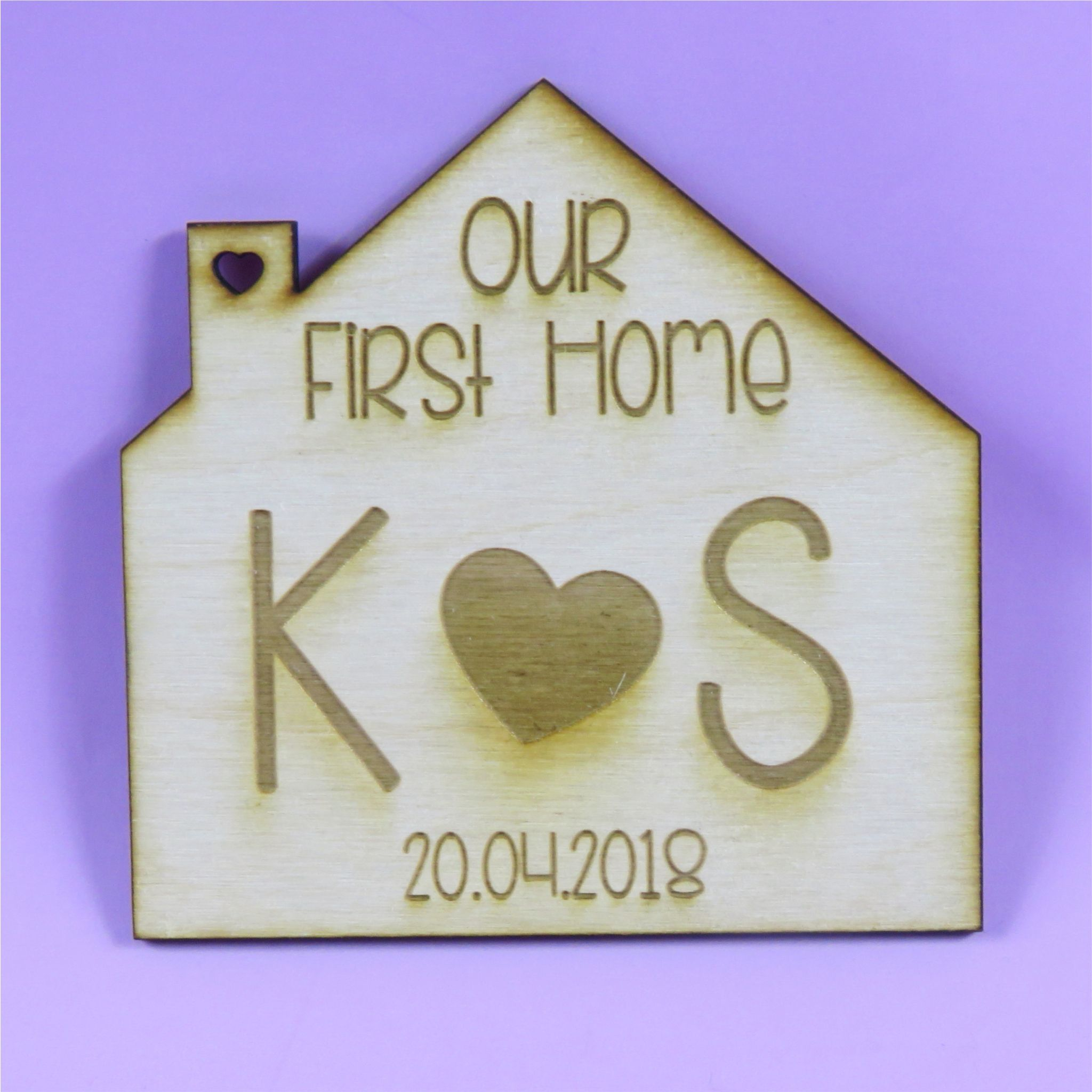 Personalised New Home Gifts First House Coaster Personalised First Home Gift Wooden House Coaster Housewarming Present New Home