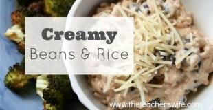 3 Ingredient Creamy Beans & Rice
