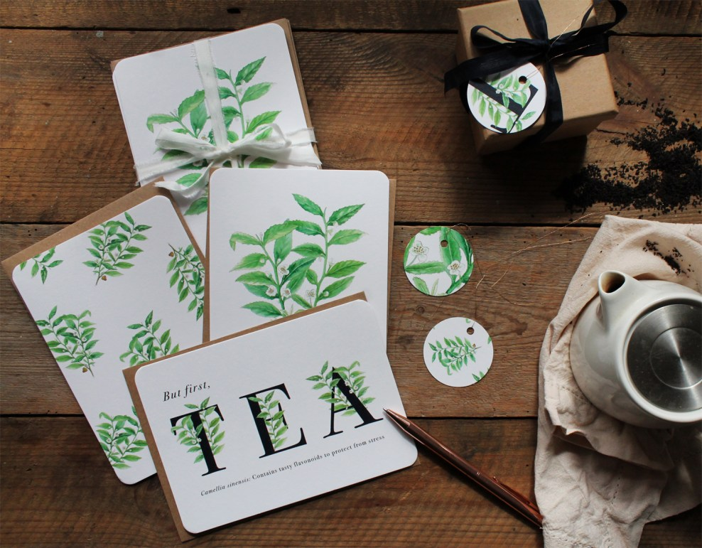Tea Plant Greeting Cards