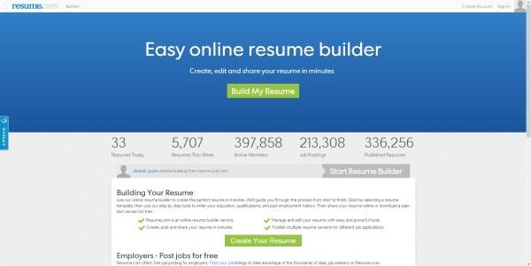 best websites for resume building top 20